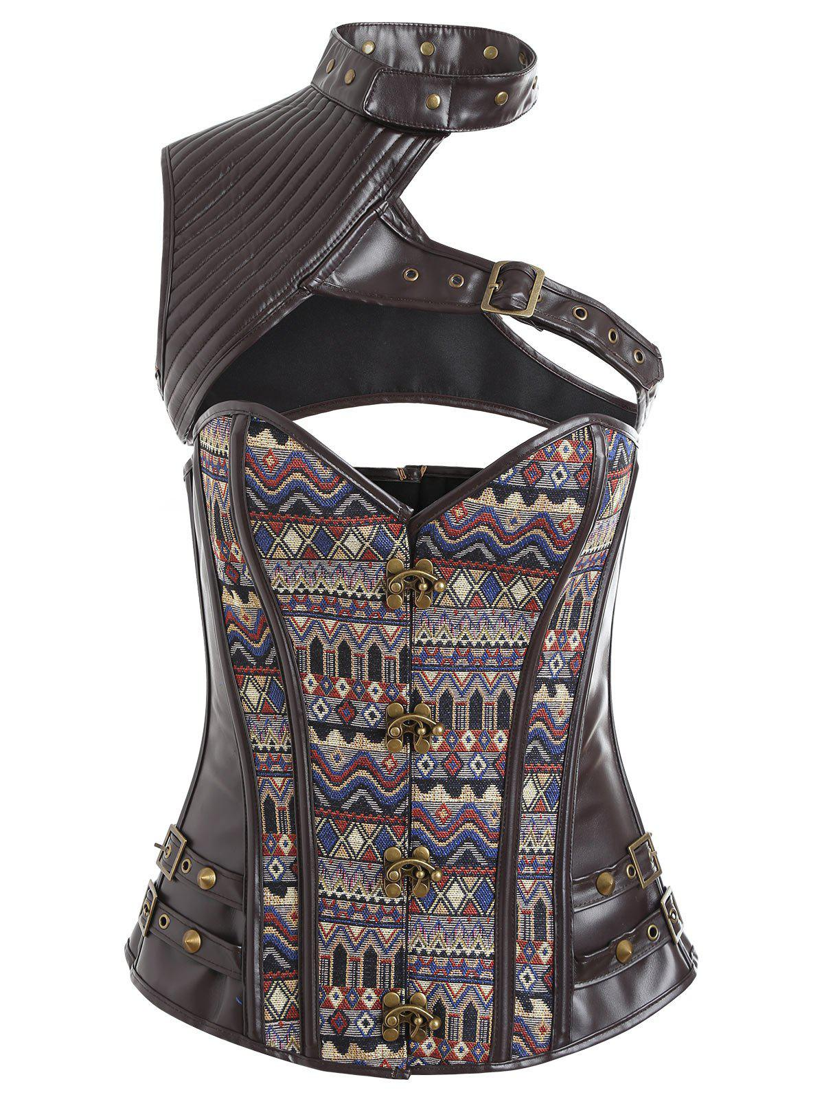 Chic Vintage Lace-up Faux Leather Corset