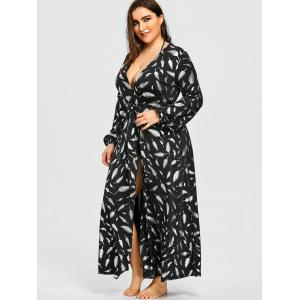 Plus Size Lantern Sleeve Maxi Cover Up -