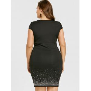 Plus Size Sweetheart Neck Cap Sleeve Bodycon Dress -