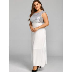 Sequins Plus Size Long Cocktail Dress -