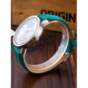 London Face Faux Leather Watch -