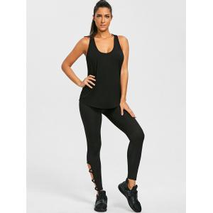 Drop Armhole Racerback Tank Sweat Top -