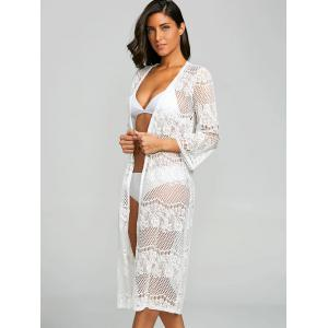 Dentelle See Thru Collarless Cover Up -
