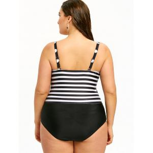 Vintage  Plus Size Push Up One Piece Beachwear -