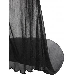 Lingerie Mesh Maxi Sheer Slip Dress -