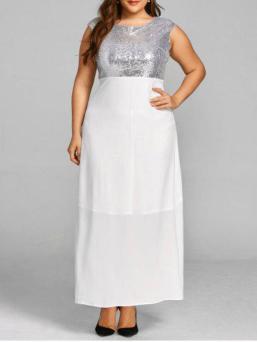 New Sequins Plus Size Long Cocktail Dress