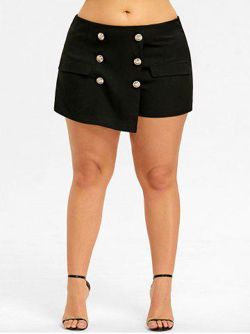 Chic Plus Size Military Skorts