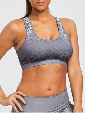 Shop Ombre Brocade Print Padded Active Sports Bra