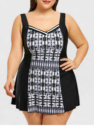 Tie Dye One Piece Plus Size Swimdress -