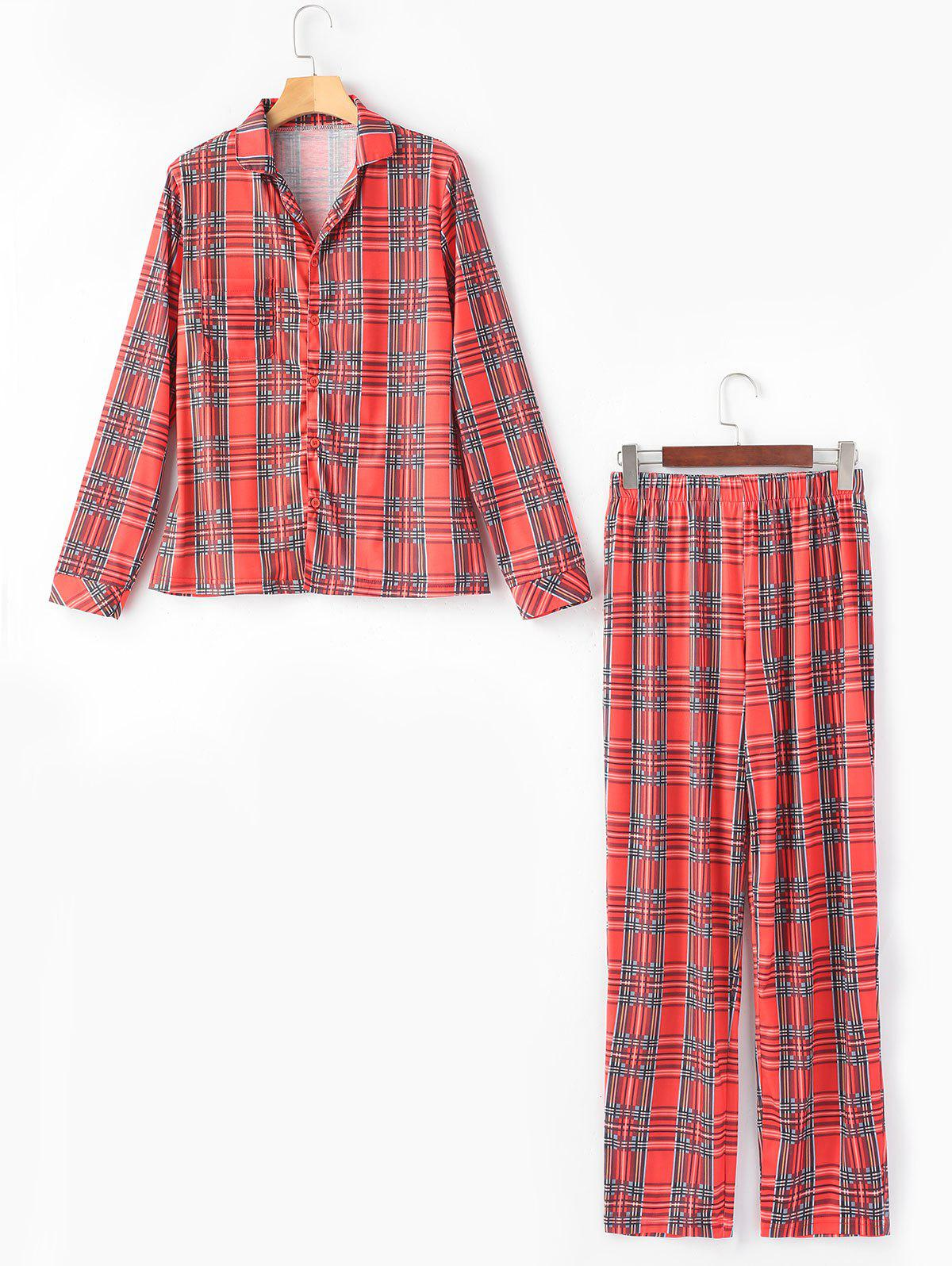 Best England Plaid Printed Sleep Suit