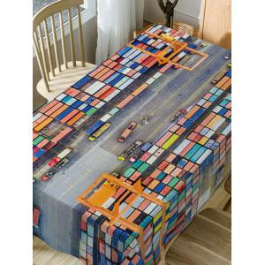Container Terminal Print Waterproof Table Cloth -