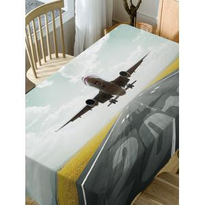 Aircraft Print Fabric Waterproof Dining Table Cloth -