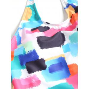 Halter Colorful Low Waist Tankini -