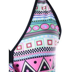 Geometric Print Plus Size Swing Tankini -