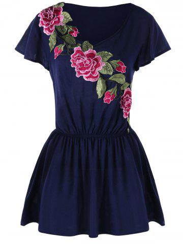 Outfit Embroidered Tunic Peplum Tee