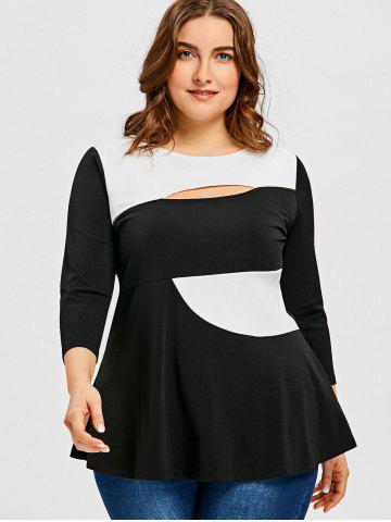 Plus Size Colorblock Top Free Shipping Discount And Cheap Sale