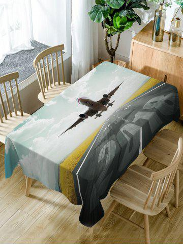 Store Aircraft Print Fabric Waterproof Dining Table Cloth