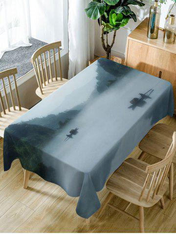 Cheap River In Mountains Pattern Waterproof Dining Table Cloth