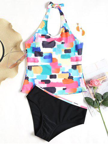 Latest Halter Colorful Low Waist Tankini