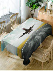 Aircraft Pattern Fabric Waterproof Dining Table Cloth -