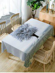 Frozen Tree Print Fabric Waterproof Table Cloth -