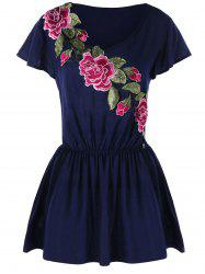 Embroidered Tunic Peplum Tee -