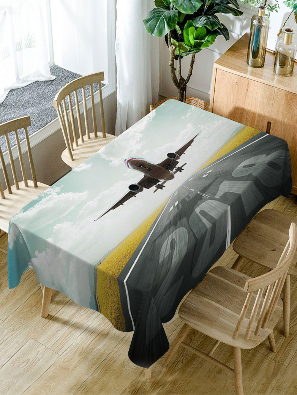 Store Aircraft Pattern Fabric Waterproof Dining Table Cloth