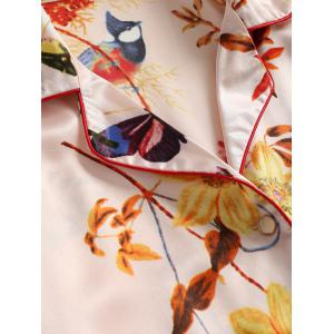 Butterfly Two Piece Satin Sleep Set -