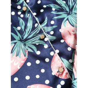 Ensemble Pyjamas Satin Imprimé Ananas -