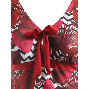 Tropical Palm Leaf Plus Size Tankini Set -