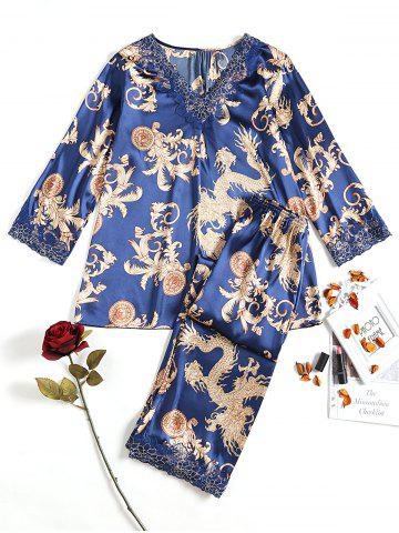 Fashion Pattern Satin Sleep Set
