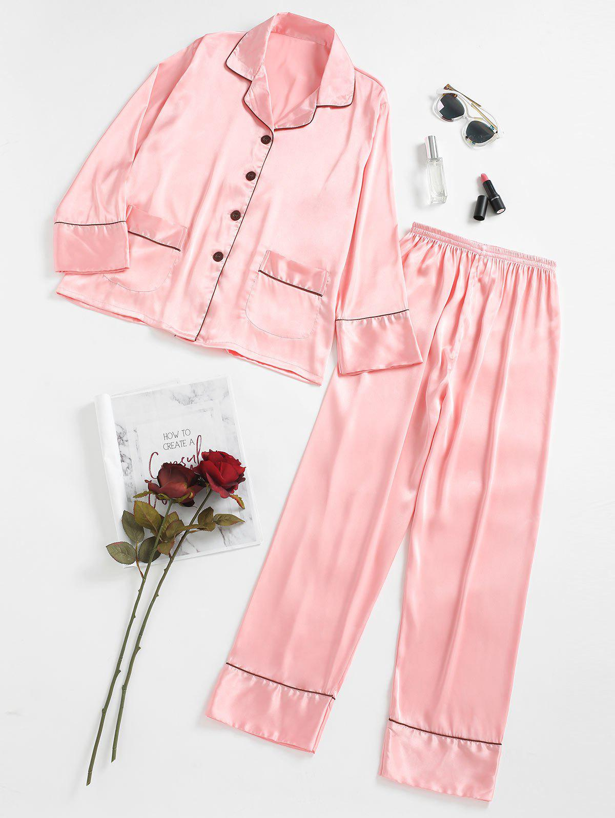 New Satin Pajamas Set