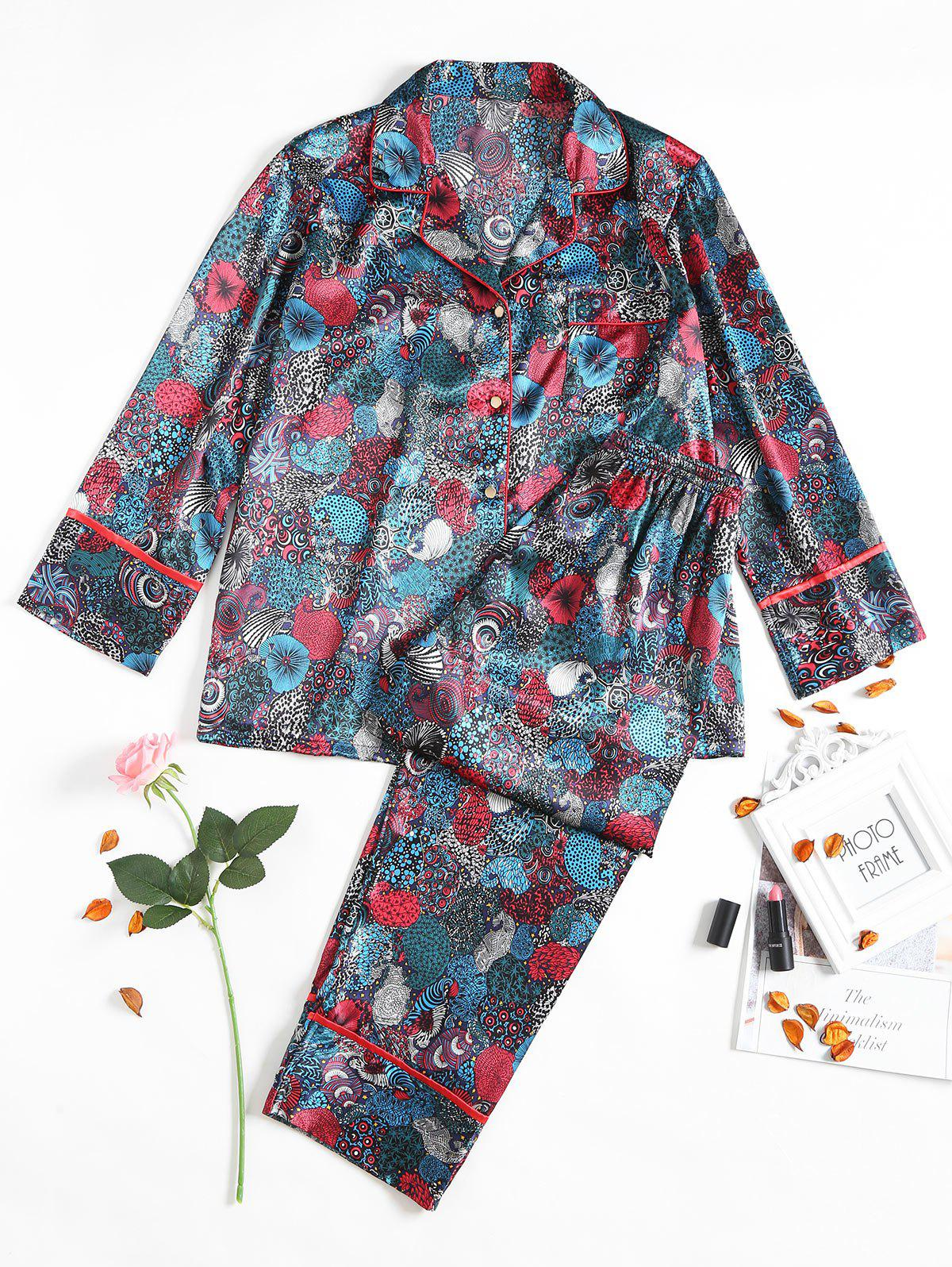 Outfit Vintage Two Piece Satin Sleep Set