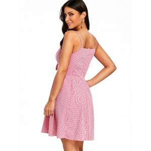 Spaghetti Strap Gingham Dress -