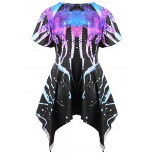 Plus Size Octopus Galaxy Empire Waist T-shirt -