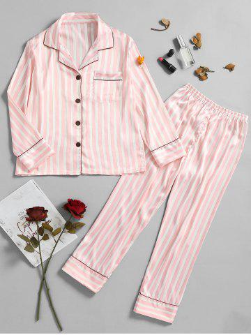 Sale Two Piece Striped Sleep Set