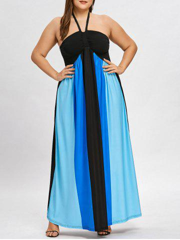 Latest Plus Size Halter Neck Empire Waist Maxi Dress