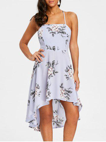 Outfit Spaghetti Strap High Low Floral Dress