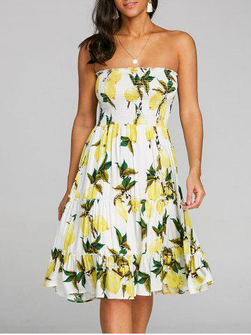 Unique Lemon Printed Bandeau Dress