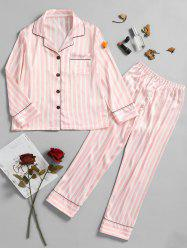 Two Piece Striped Sleep Set -