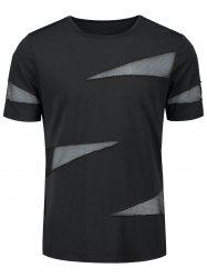 Sheer Shredding Crew Neck T-shirt -