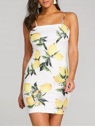 Lemon Printed Mini Dress -