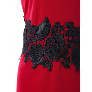 Plus Size Two Tone Lace Applique Dress -