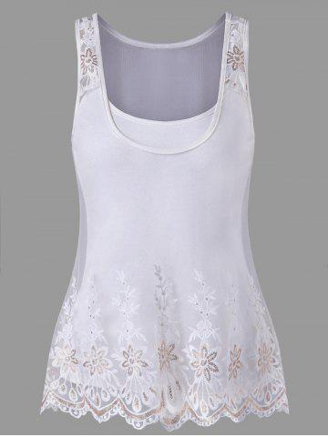 Shops Embroidered Mesh Tank Top Set