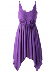 Plus Size Lace Trim Slip Dress -