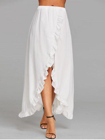Unique Ruffle Floor Length Tulip Skirt