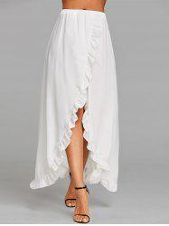 Ruffle Floor Length Tulip Skirt -