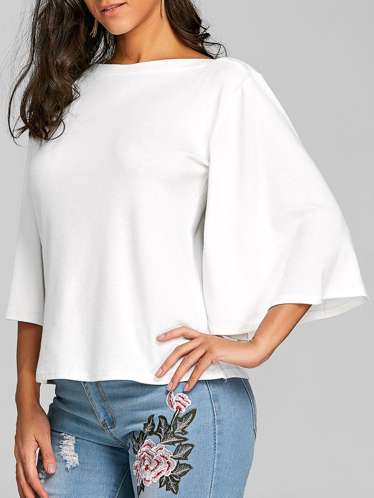 Affordable Flare Sleeve Tunic Tee