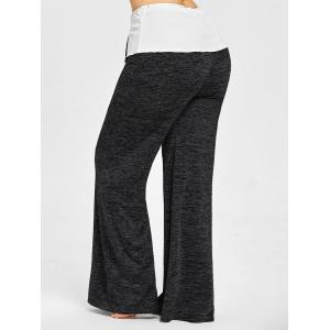 Plus Size High Waist Wide Legged Pants -