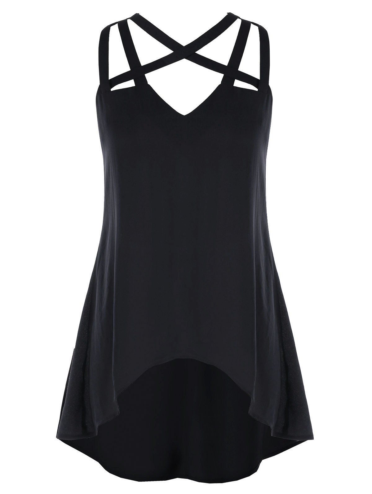 Best Strappy Front Asymmetrical Tank Top